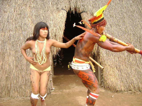 South American Tribal Girls Apart and almost