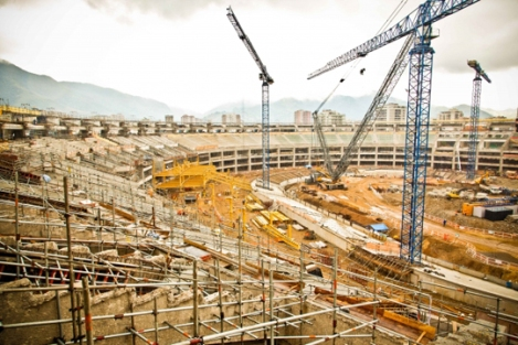 Maracanã in Rio under construction (39% concluded). The stadium is the place where the final match of the World Cup 2014 will be played.