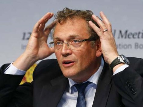Last Saturday March 1, the secretary-general of the FIFA, Secretary-general of the FIFA, Jérôme Valcke, stated that the delay in finishing the Brazilian stadiums for the World Cup this year is a big challenge for the FIFA - Photo: Arnd Wiegmann/Reuters