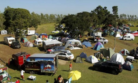 The Chilean camp in Itaboraí involves 800 cars and 3,000 people - Photo: Gabriel de Paiva