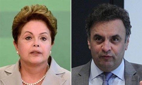 President Dilma Rousseff (re-election) and Aécio Neves, candidate for the PSDB