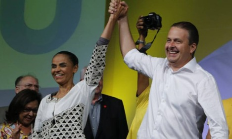Marina Silva and Eduardo Campos during the National Convnetion of PSB in Brasilia - Photo: Jorge William