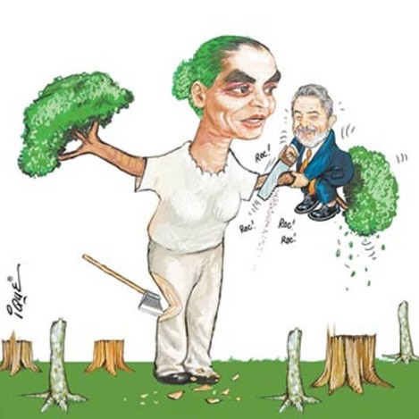 As Minister of the Environment she quit the Lula government as she couldn't accept Lula's disastrous policy in regard to the environment